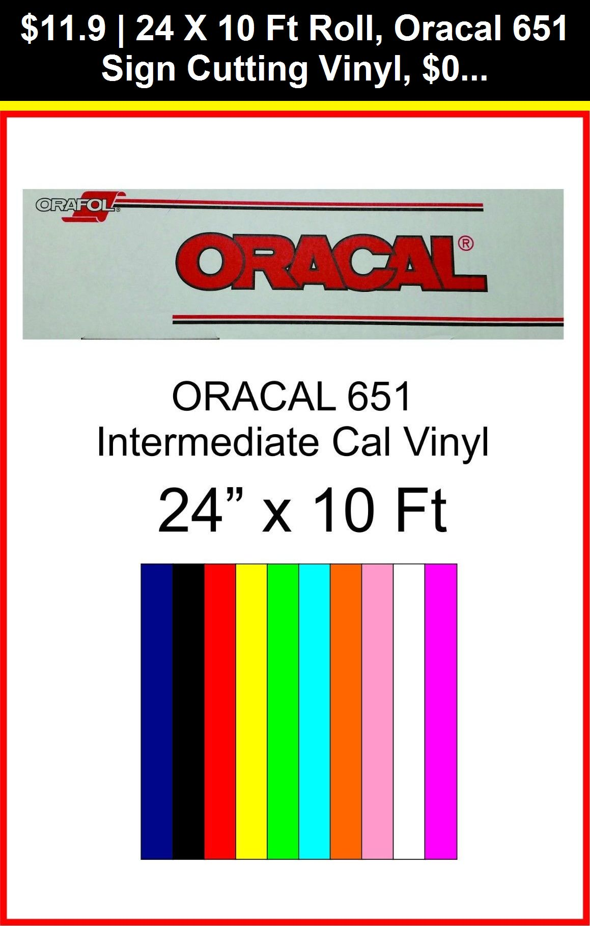 """Oracal 651 10 Rolls 24/"""" X 10 ft Sign Cutting Vinyl Free shipping by precision62"""