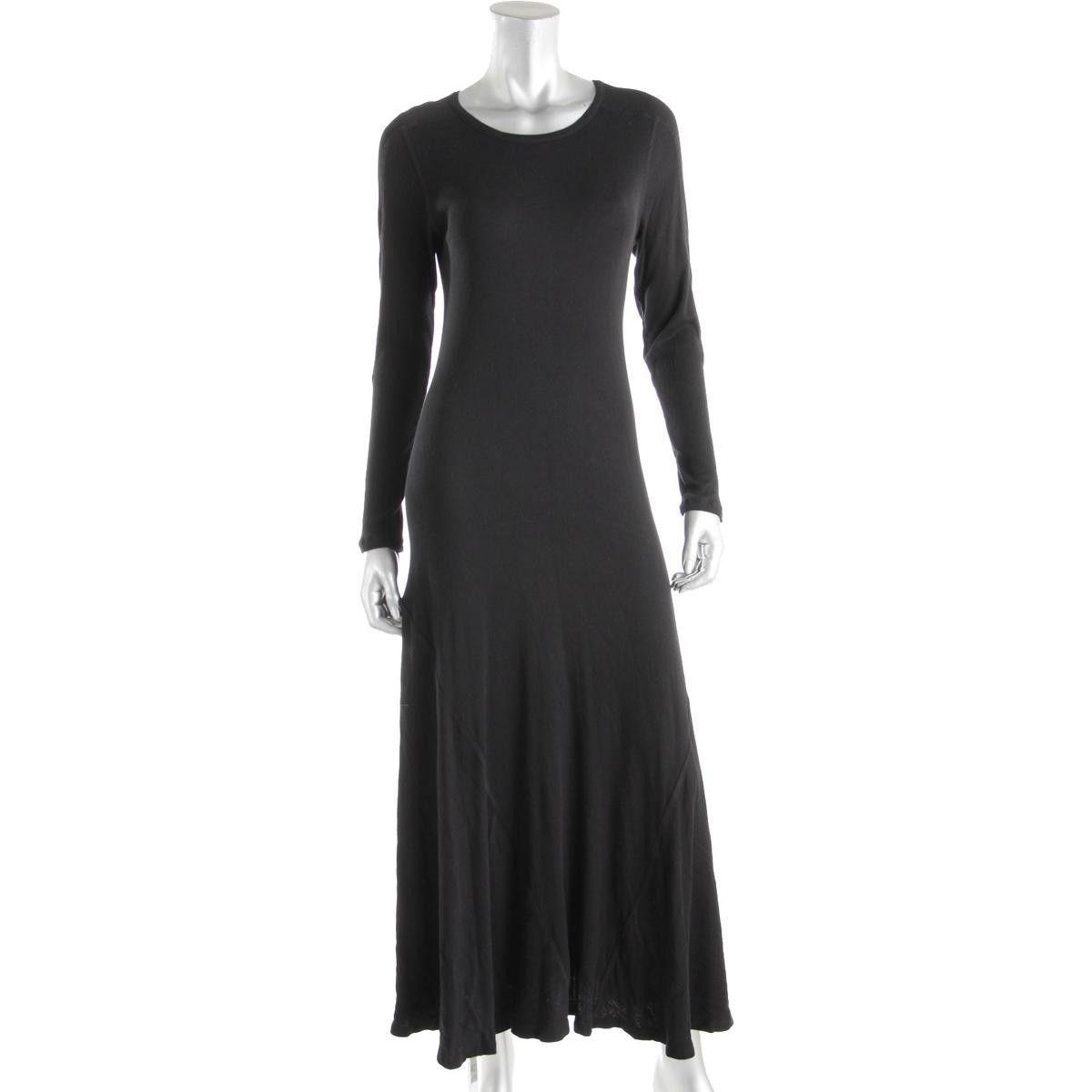 Gh bass u co womens modal blend long sleeves maxi dress