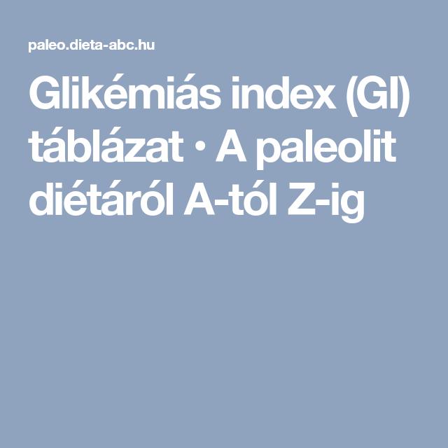 szálkásító étrend glikémiás index