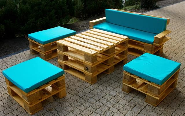 Wooden pallets furniture Garden Recycled Pallet Furniture Ideas Diy Pallet Projects 99 Pallets Part Diy Joy Muebles De Terraza Con Palets Muebles Hechos Con Palets