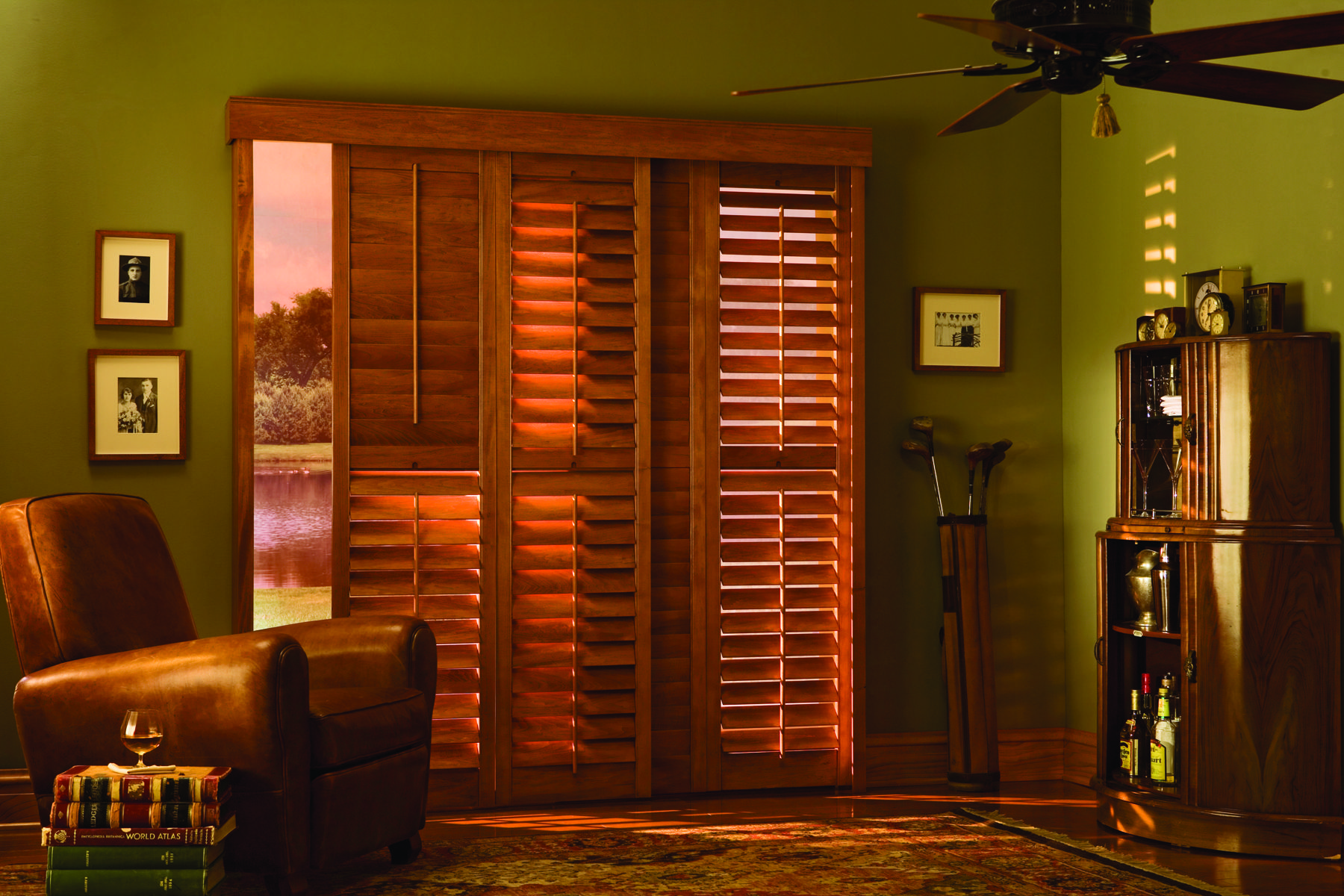 Graber Traditions Bypass Sliding Shutters Patio