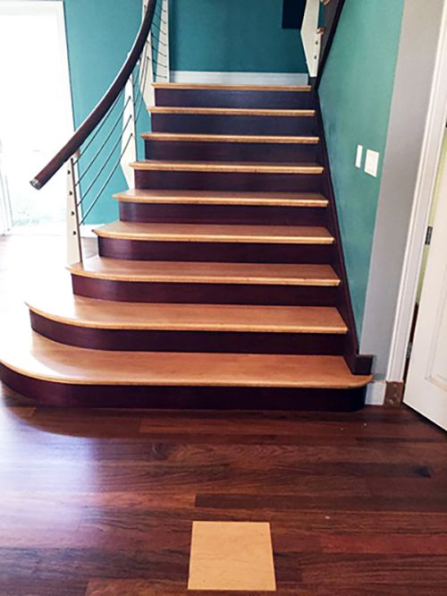 Best Maple Risers On Brazilian Cherry Stairs Hardwood 400 x 300