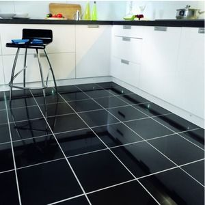 Wickes Black Polished Porcelain Floor Tile 300x300mm Interior Porn Pinterest Porcelain