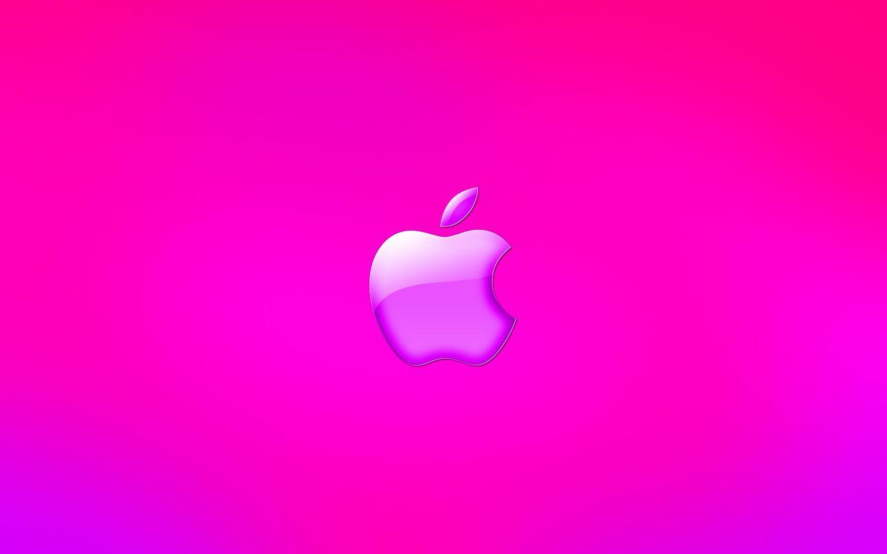Download Pink Apple Logo Wallpaper