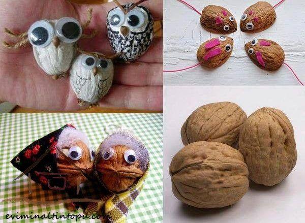 Walnut shell craft ideas | funnycrafts