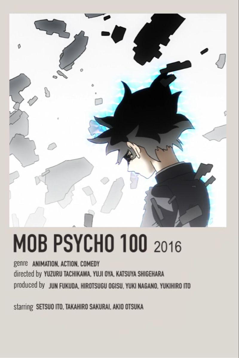 mob psycho 100 minimalist poster