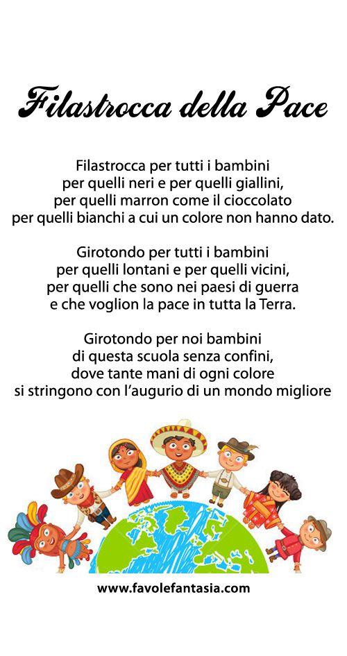 Poesie Di Natale Sulla Pace.Filastrocca Della Pace Italiano Filastrocche