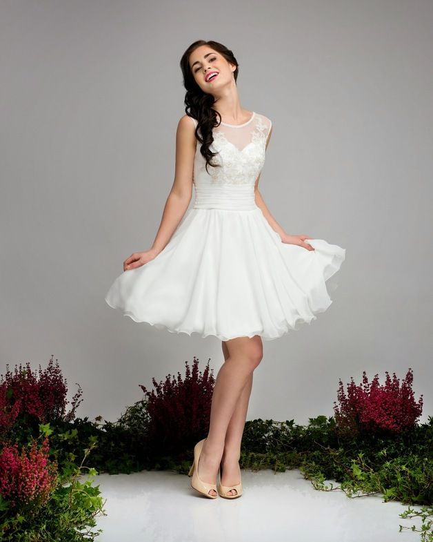 Brautkleider - Kurzes Standesamtkleid Calla - ein Designerstück von ...