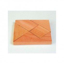 Houten Puzzel Vierkant, merk Goki     Probeer met de houten stukjes een vierkant te maken, wordt gelverd in een stoffen zakje.     Item: 340DA-15 € 1,95