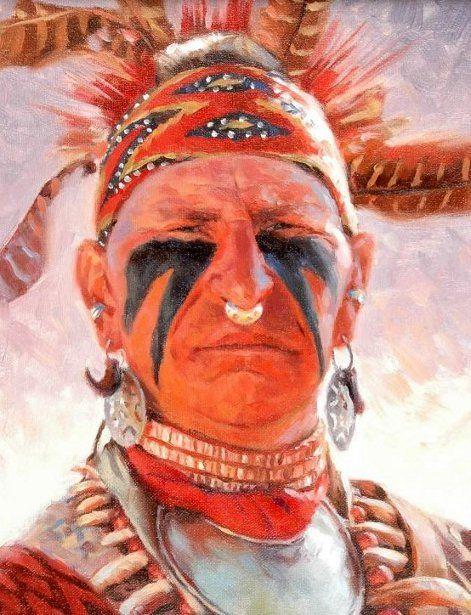 Creek Indian by David Yorke kp   David Yorke (Native Am art