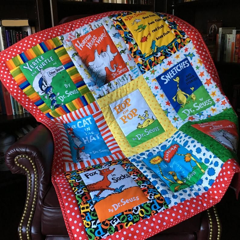Custommade from multiple dr seuss book covers fabric