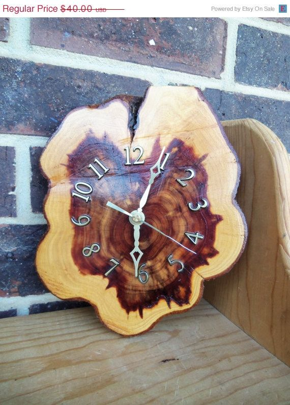 70 Off Clearance Sale Vintage 70s Cedar Clock By