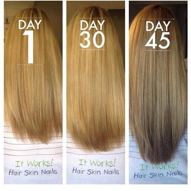 Before and After It Works Hair, Skin, and Nails! To learn more or ...