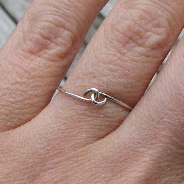 Pinky Promise Sterling Silver Ring. $19.00, via Etsy. | Wire ring ...