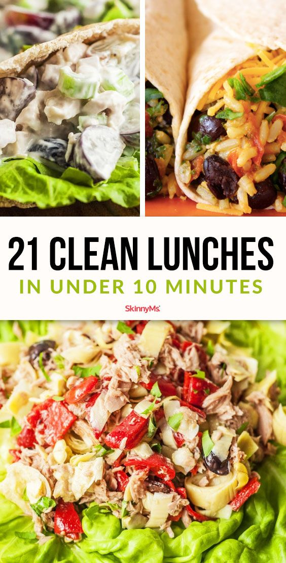 21 Clean Lunches in Under 10 Minutes #cleaneating