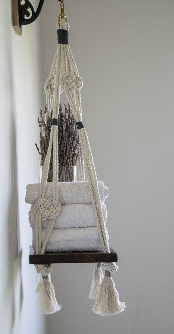 Macrame Hanging Shelf Lover's Knot Macrame Hanging by ...