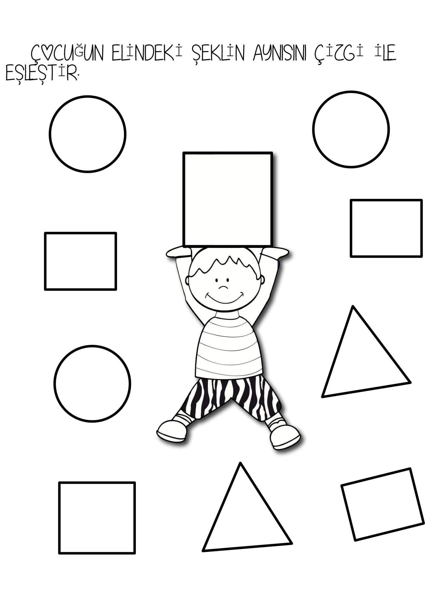 Kare şekli Etkinlikasigi Working Pages Preschool Worksheets