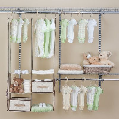 Deep Nursery Closet Organizer 24 Piece Set With Images Nursery Closet Baby Closet Organization Nursery Closet Organization