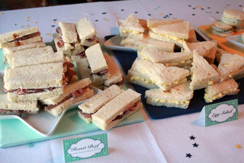 Finger Sandwiches For Baby Shower Recipes The Baby Shower Included