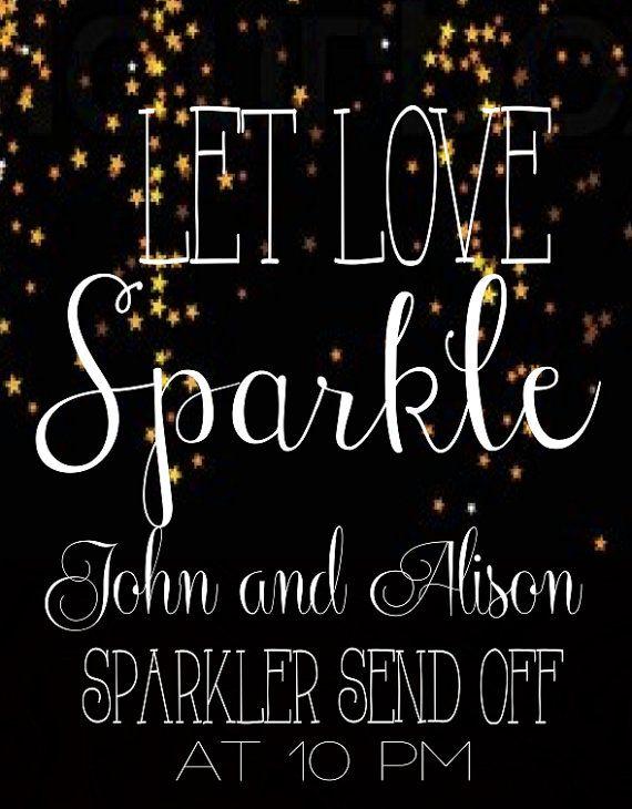 Let Love Sparkle  Stars Wedding Exit Sign by JealousMelon on Etsy