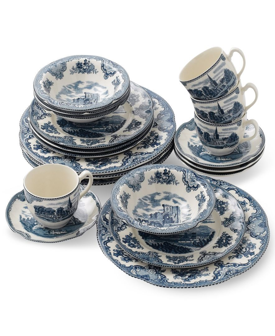 Dinnerware Old Britain Castle Blue 20 Piece Set. Blue DinnerwareCasual DinnerwareJohnson Brothers ChinaChristmas ...  sc 1 st  Pinterest & Johnson Bros. Dinnerware Old Britain Castle Blue 20 Piece Set ...