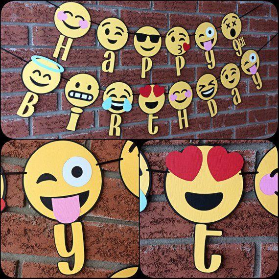Emoji Happy Birthday With Age Banner Emojis Party