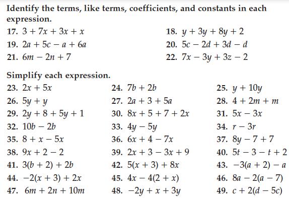 Pre Algebra Pre Algebra Math Worksheets Math Worksheet