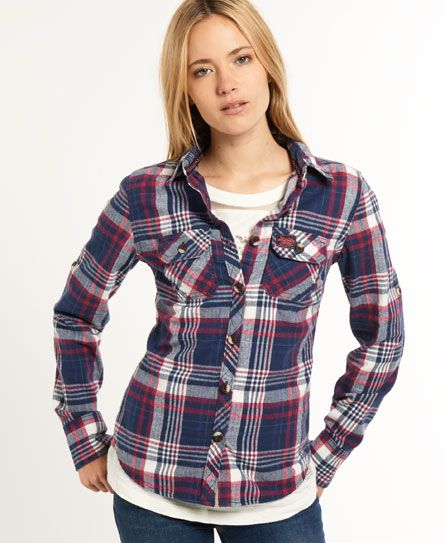 Superdry women's Lumberjack Twill shirt. The definitive lumberjack ...
