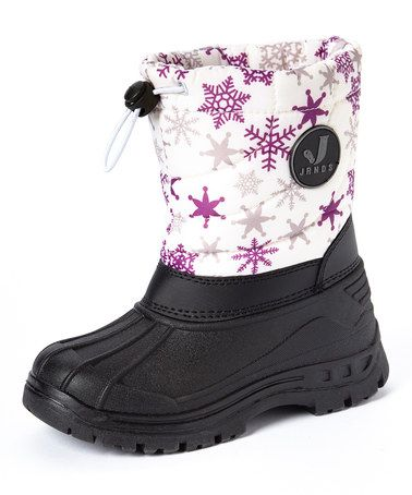 Look what I found on #zulily! White Snowflake Snow Boot - Kids #zulilyfinds