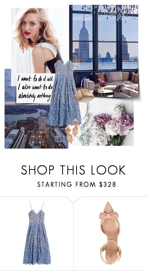 """Untitled #212"" by fashionably-late ❤ liked on Polyvore featuring self-portrait, RED Valentino and Givenchy"
