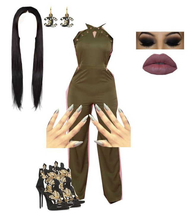 """""""Do You Like?"""" by amari-hylton ❤ liked on Polyvore featuring Giuseppe Zanotti, Chanel, women's clothing, women, female, woman, misses and juniors"""