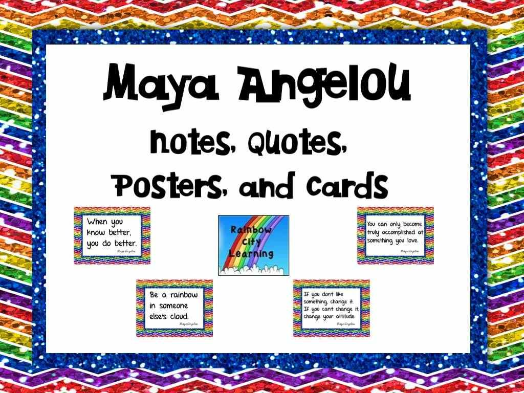 Maya Angelou Notes Quotes Posters And Cards