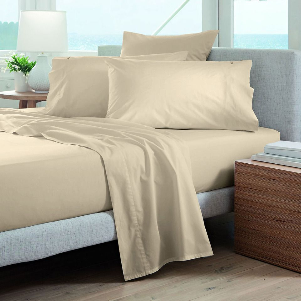 thread count queen sheet set in bisque never miss a wink of