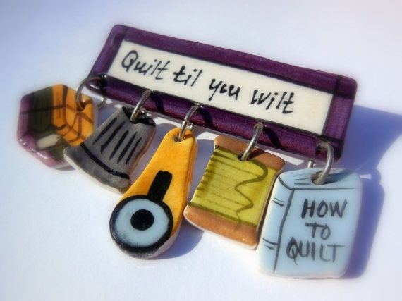 Quilt Retreat Favors Ceramic Quilters Pin Quilters