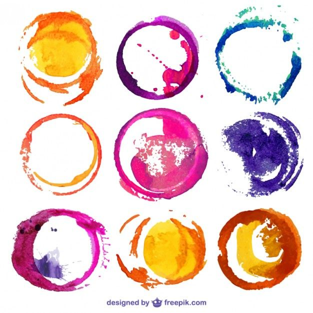 Download Round Watercolor Stains For Free Watercolor Circles