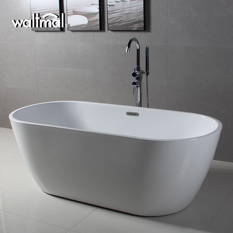 Simple Elliptical Freestanding Bathtub Simple Bath Experience Free Standing Bath Tub Soaking Bathtubs Bathroom