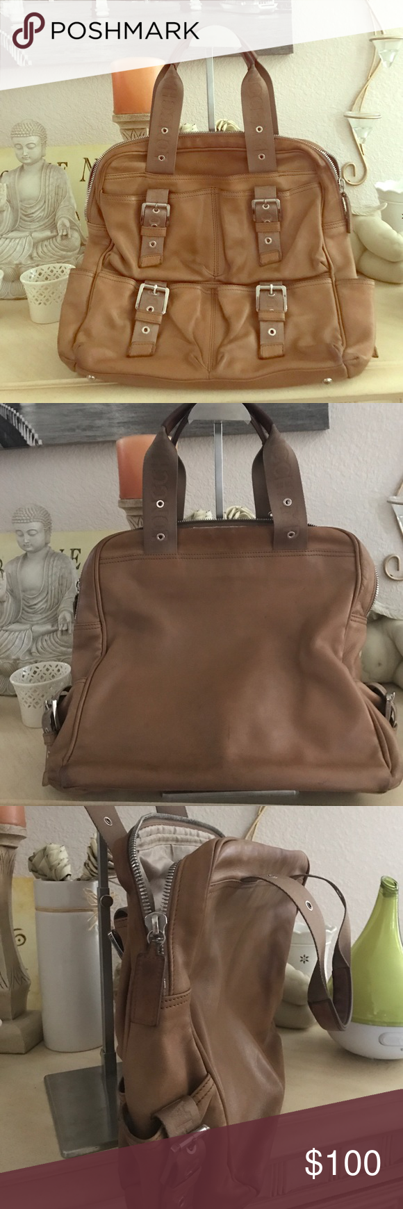 Longchamp Bag Good used condition with some water marks. Tan. Authentic purchased directly from department store. Longchamp Bags