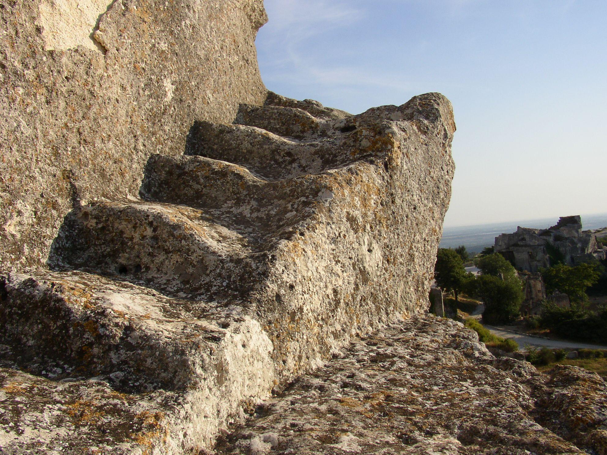 Escalier Au Château Des Baux De Provence Culturespaces Stairways Monument Valley Monument