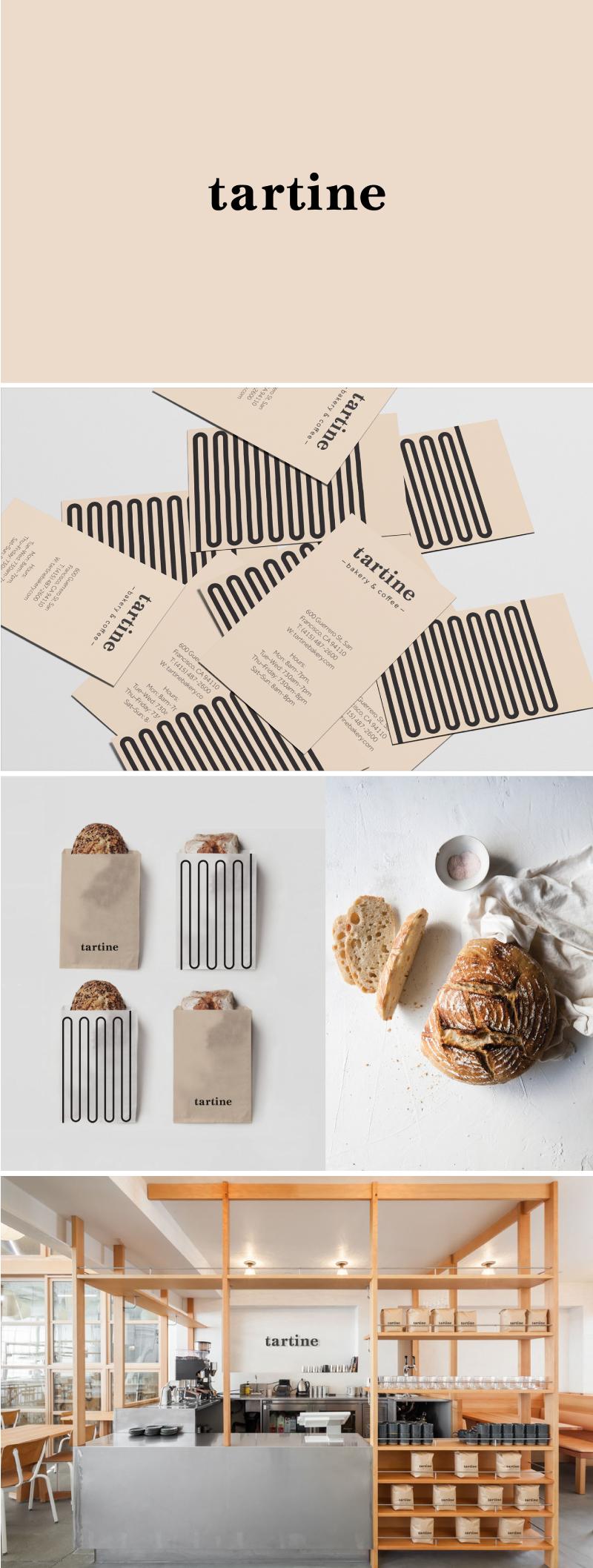 Tartine Bakery logo & branding.