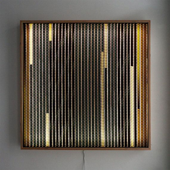 Lighting For Wall Art: Large LIGHTBOX 26 - Vintage 16mm Filmstrip Collage on Acrylic - Wall Art  Lamp - LED,Lighting