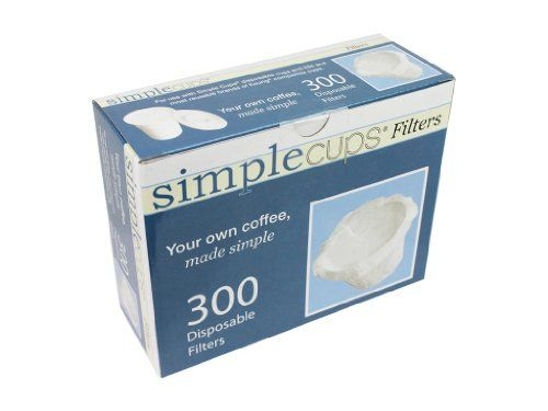 Disposable Filters for Use in Keurig® Brewers - Simple Cups - 300 Replacement Filters - Use Your Own Coffee in K-cups | Multi City Health  List Price: $29.95 Discount: $14.95 Sale Price: $15.00