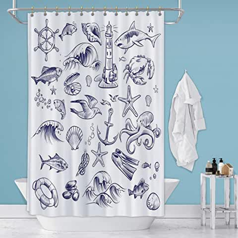 Amazon Com Crab Shower Curtains For The Bathroom In 2020