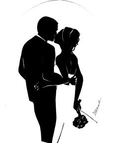 Silhouettes at weddings wedding silhouette artist wedding silhouettes at weddings wedding silhouette artist junglespirit Choice Image