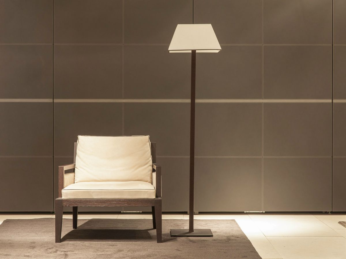 POLIFORM Soori Highline chair with NAHOOR Manaar floor lamp ...
