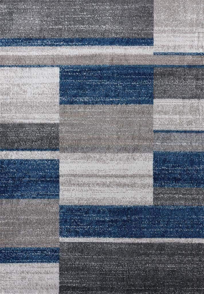 3401 Blue 8x11 Area Rug Modern Carpet