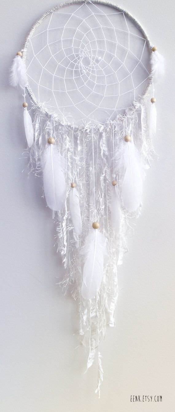 RESERVED // The White Arctic Fox Native Style Woven Dreamcatcher ...
