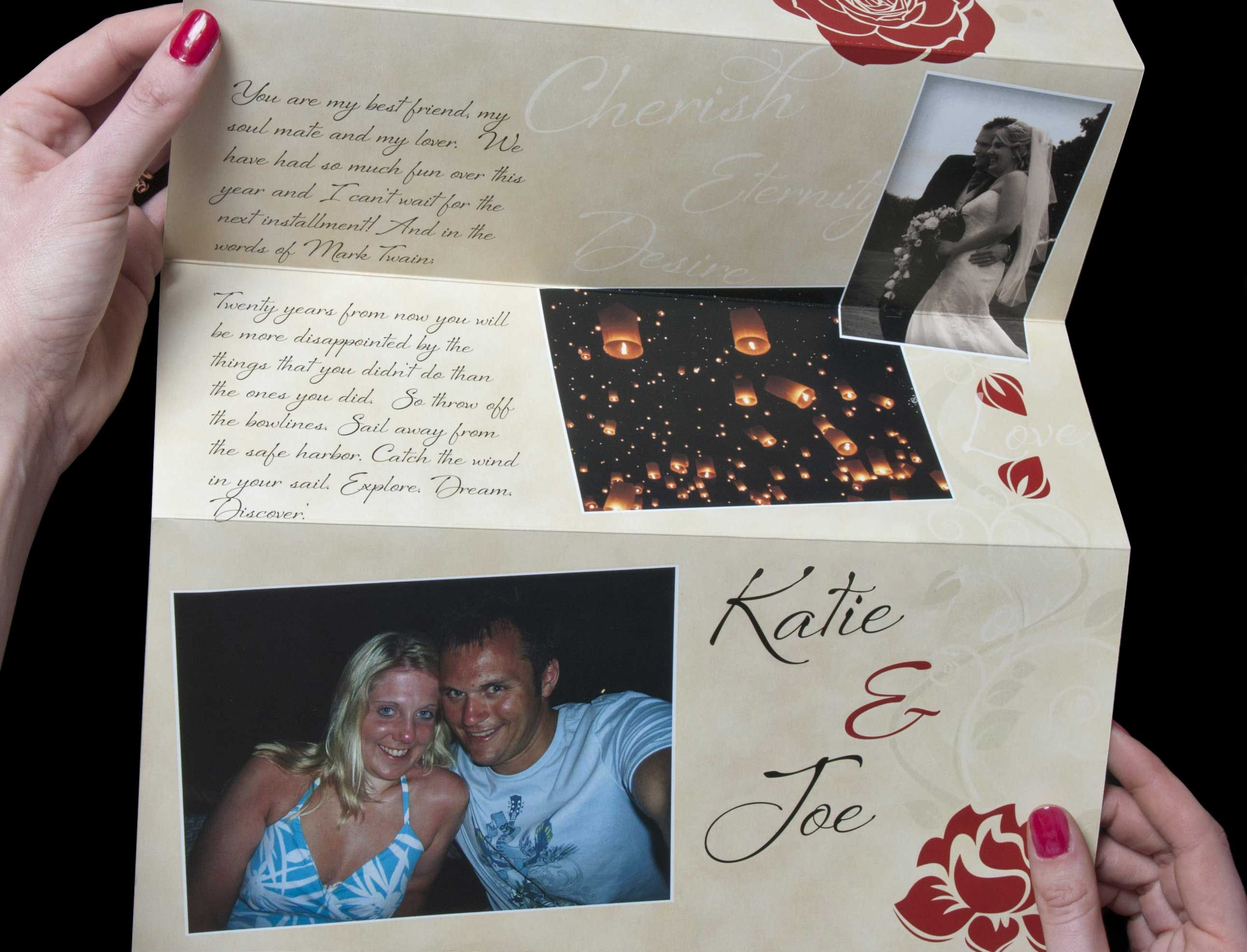 Photo love letter £11.99 p a beautiful personalized love letter