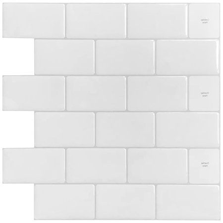 10 Sheets Premium Anti Mold Peel And Stick Backsplash Tiles For Kitchen 12 X12 In White Subway Tile Walmart Com Stick Tile Backsplash Peel And Stick Tile Stick On Tiles