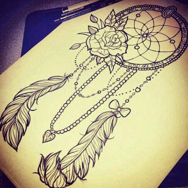 Dream Catcher Tattoo On Thigh Beautiful Dream Catcher Tattoo Idea  Tattoos  Pinterest