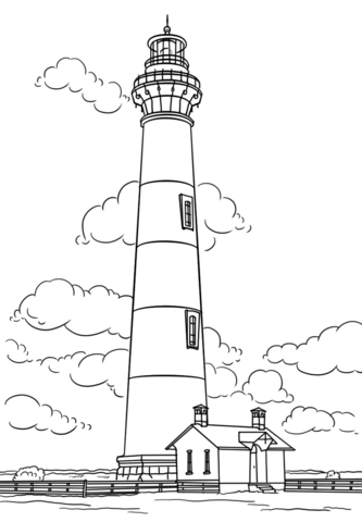 Bodie Island Lighthouse North Carolina Coloring Page Coloring Pages Free Printable Coloring Pages House Colouring Pages